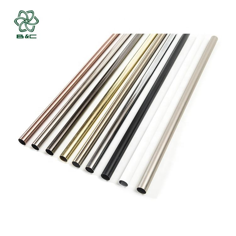 Top quality best price curtain accessories metal curtain iron pipes/poles/tubes/rods