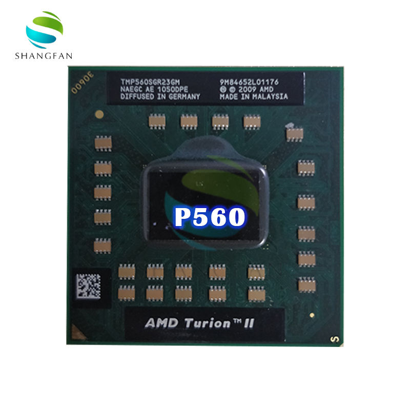Voor Laptop Cpu Processor Amd Turion Ii Dual-Core Mobiele P560 - TMP560SGR23GM 2.5G 2M 25W p560 Laptop Cpu Socket S1/S1g4