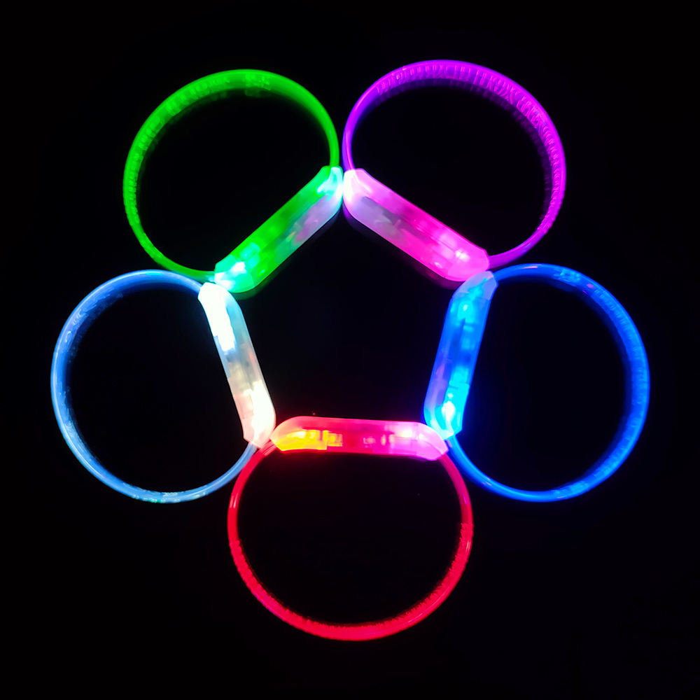 Popular Christmas Promotional Gifts LED Steady Slow Quick Flashing Light Bracelet led event party supplies