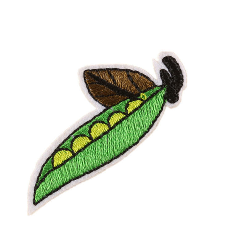 Computer Embroidery Fruit and vegetable series pattern patch Clothing jeans hat shoes use Clothing accessories Broccoli patch
