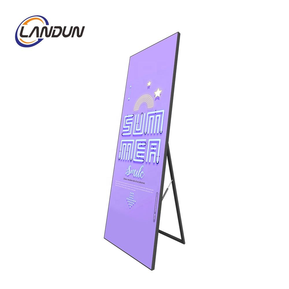 2020 china led video display indoor p2.5 deta mirror photo booth led poster screen hd display advertising player