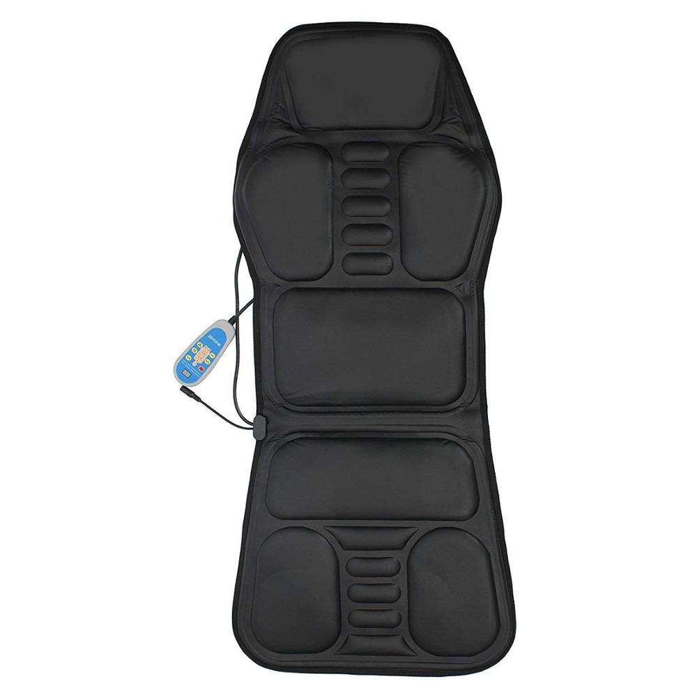 Automatic timer neck and back massage cushion for home office and car