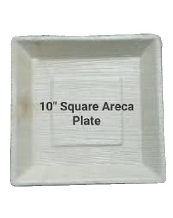 Very Comfortable 10 inch square areca leaf plates