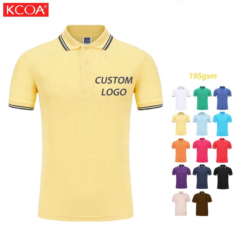 New Style Promotion Breathable Summer Durable Male Customized Logo Polo Shirts