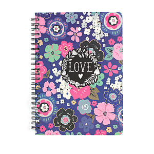 Low Moq Custom High Quality New Design flower paper cover A4 A5 Thick Wire-O Spiral Notebook