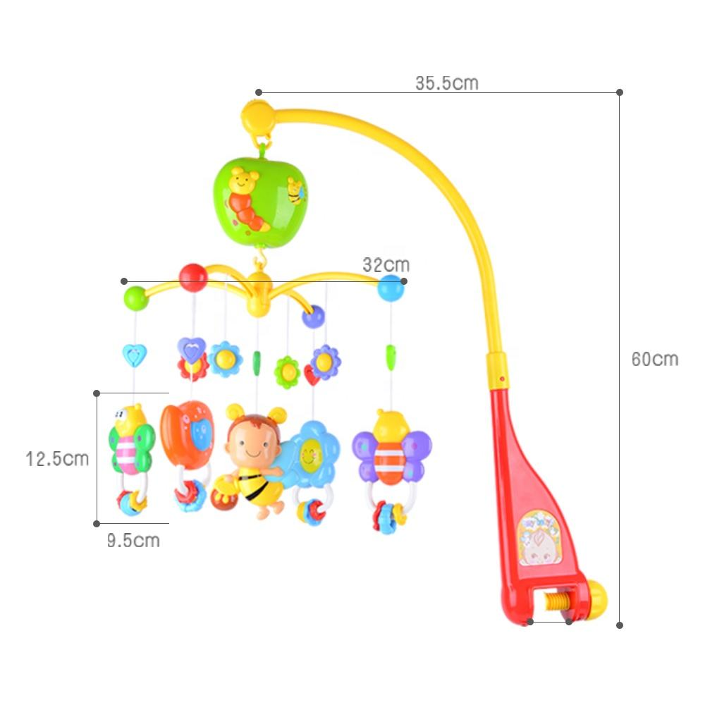 Hanging rattles musical mobile baby bed bell toys for crib