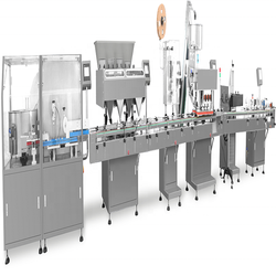 High speed bottling capping and labeling machine automatic counting machine