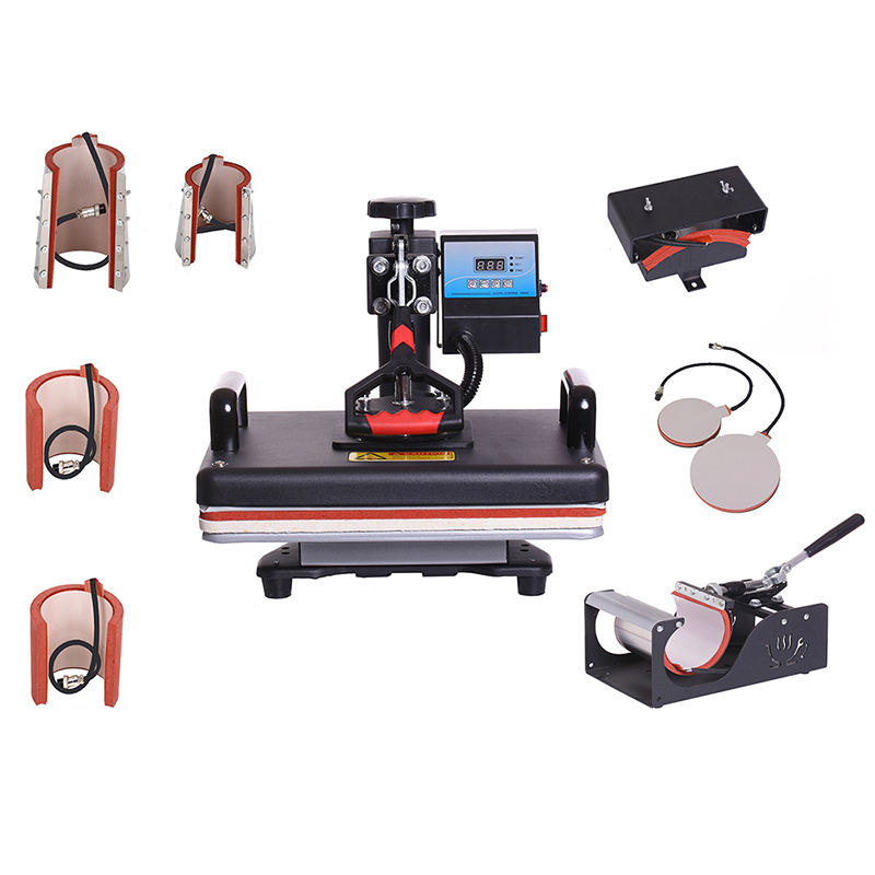 Combo Multifunctional Heat Press T shirt Transfer Printing Machine 8 in 1