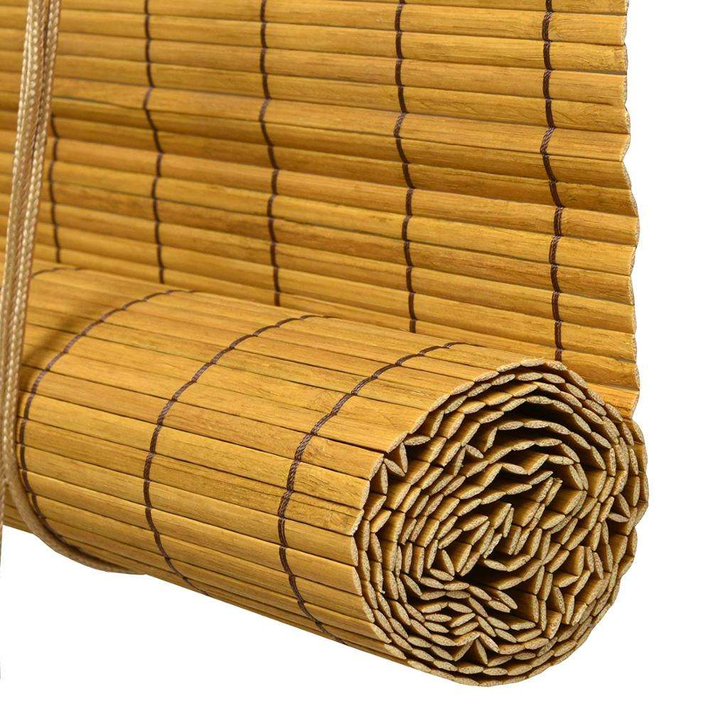 Bamboo Blind with Cord Roman Blind for Door Balcony Corridor Shade Room Divider Curtain