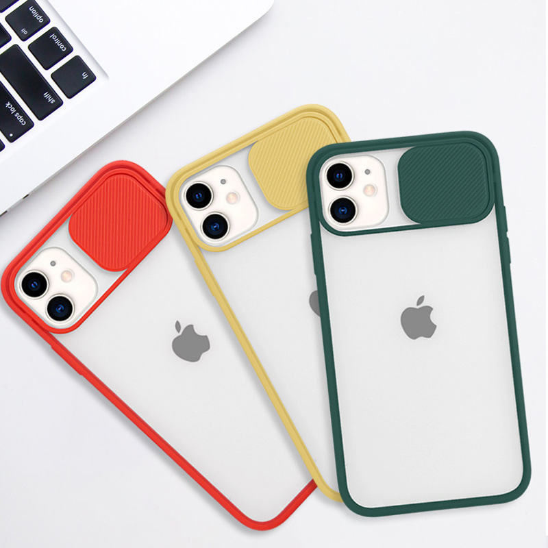 New Arrival Slide type lens protection phone case TPU with PC 2IN1 mobile phone case for iPhone SE 2020 X /XR/11/11 Pro max Case