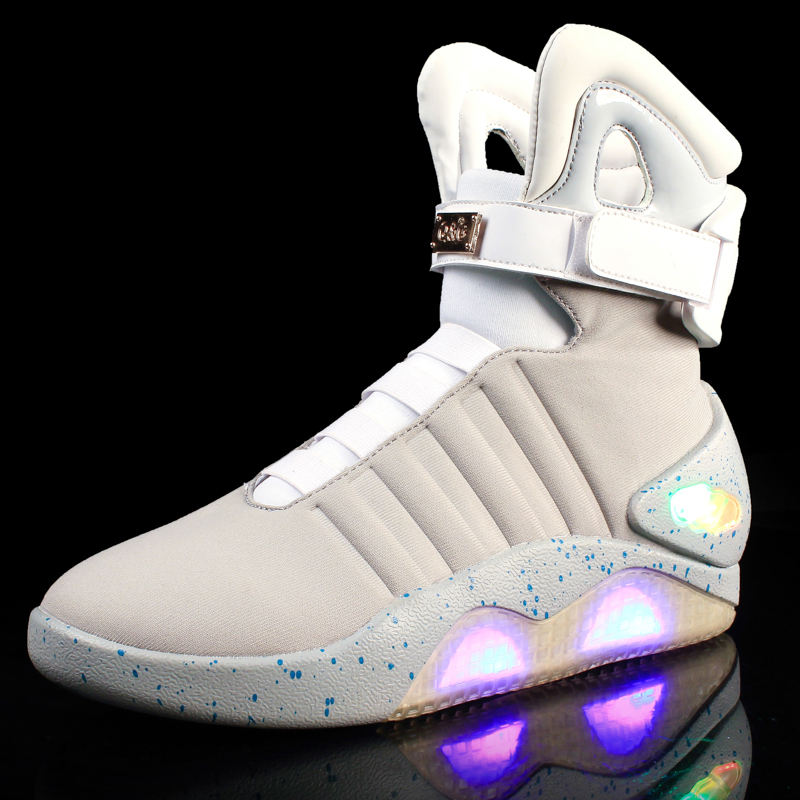 2019 back to the future led shoes for men