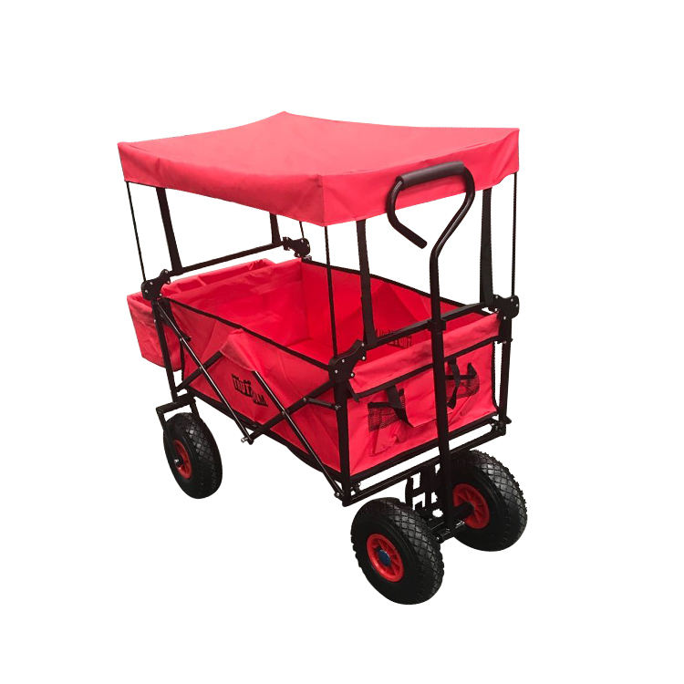 High Quality Trolley Cart Portable Folding Wagon Shopping Bag with Canopy