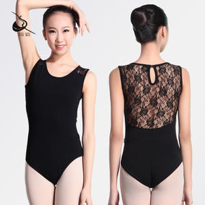 115141010 Baiwu Short Sleeve Leotard Ballet Lace Leotards Women Adult