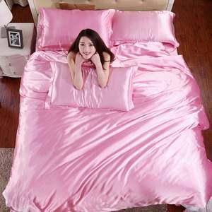 الفاخرة التايلاندية الحرير السرير يغطي خام حرير لحاف السرير غطاء