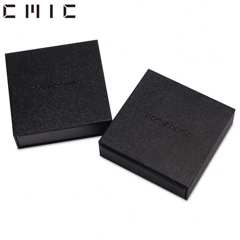 Both Side Black Luxury Gold Foil Stamped Cardboard Packaging Paper Boxes For E-Commerce Products Shipping