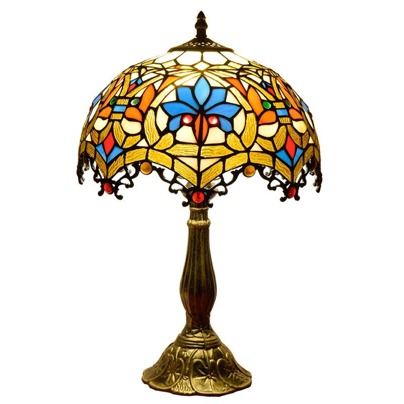 12 zoll Lamps Crystal Gold Bed Side Quality Glass Tiffany Lampe Antique Base China Art Chandelier Stained Led Table Lamp