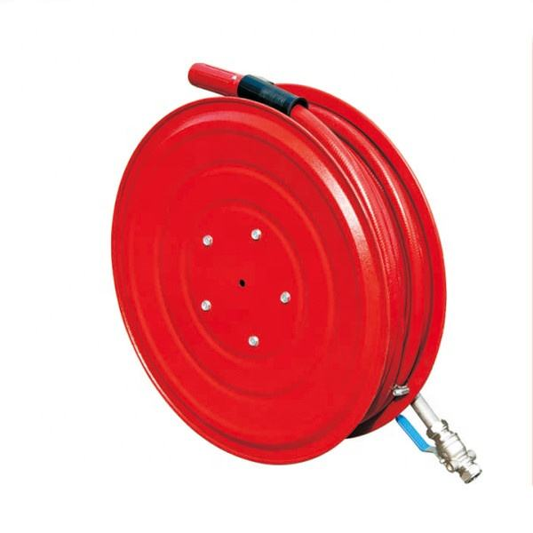 China 1inch or 3/4 inch Red Firefight Equip Manual Style Water Fire Hose Reel Class A Fire