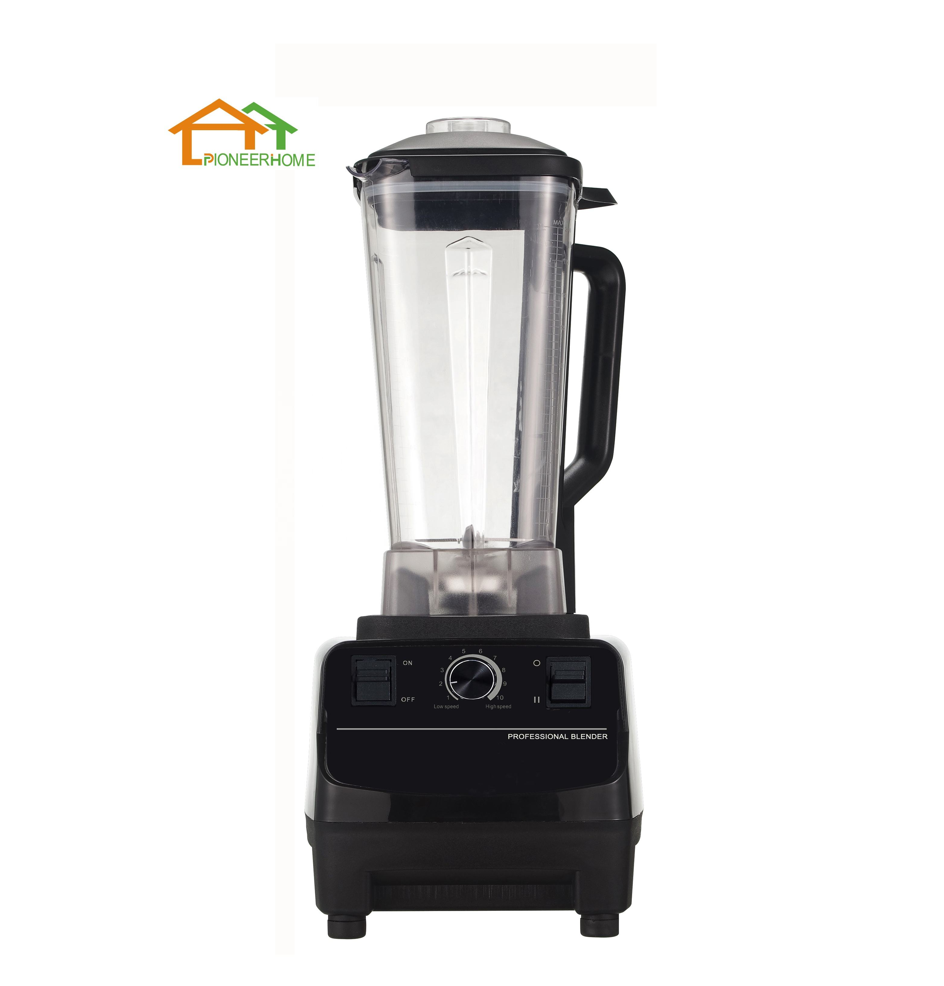 1500W 2L Volledig Koperen Motor High Speed Power Fruit Mixer Juicer commerciële blender