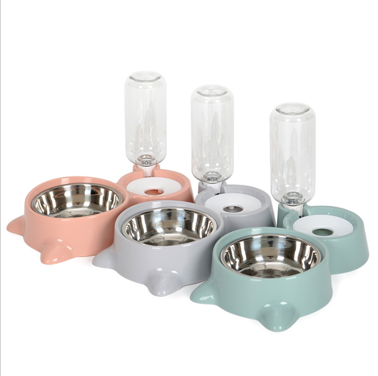 Automatic Dog Cat Puppy Water Food Bowl Pet Accessory Stainless Steel Dog Drinking Bowl