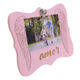 Hot selling 4X6 inch Pink Shaped wood picture photo frame clip photo frame for Baby gift