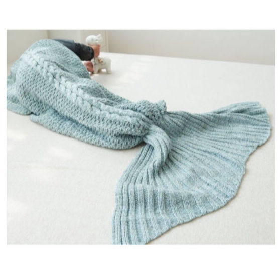 wholesale mexican imports mermaid tail fleece knit blanket