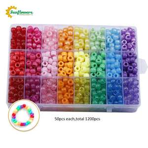 Amazon Multi Gekleurde 9X6Mm Plastic Craft Pony Kralen Diverse Bulk In Opbergdoos