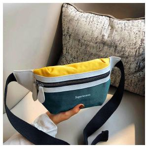 New Style Fashion Girl Canvas Fanny Pack Chest Bag With Multifunction