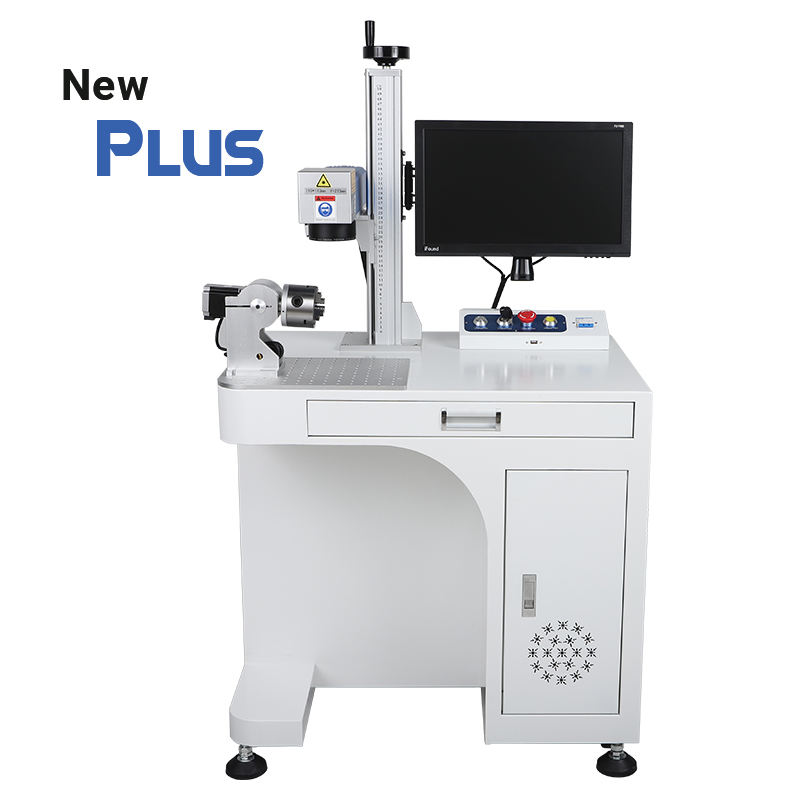 30w desktop fiber laser marking machine with computer Raycus laser soure factory direct sale AI BMP JPG PLT DXF supported format