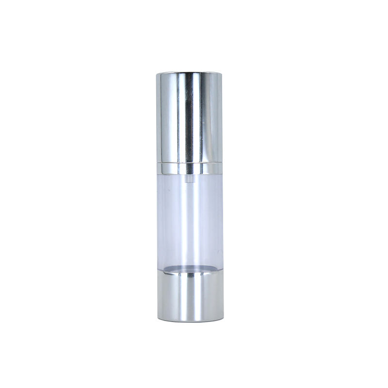 10ml luxury silver gold aluminum cosmetic spray airless dispenser pump frosted plastic bottle