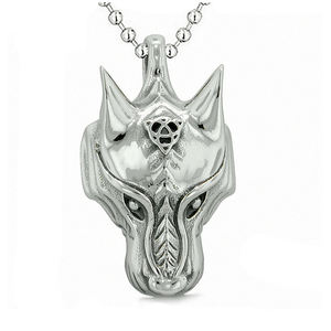 Wise Celtic Knot Charm Amulit Stainless Steel Viking Wolf Pendant for Men
