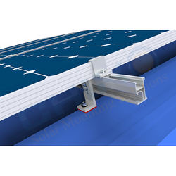 Rapid assembly solar panel mounting corrugated roof rack solar panel mount photovoltaic stent system