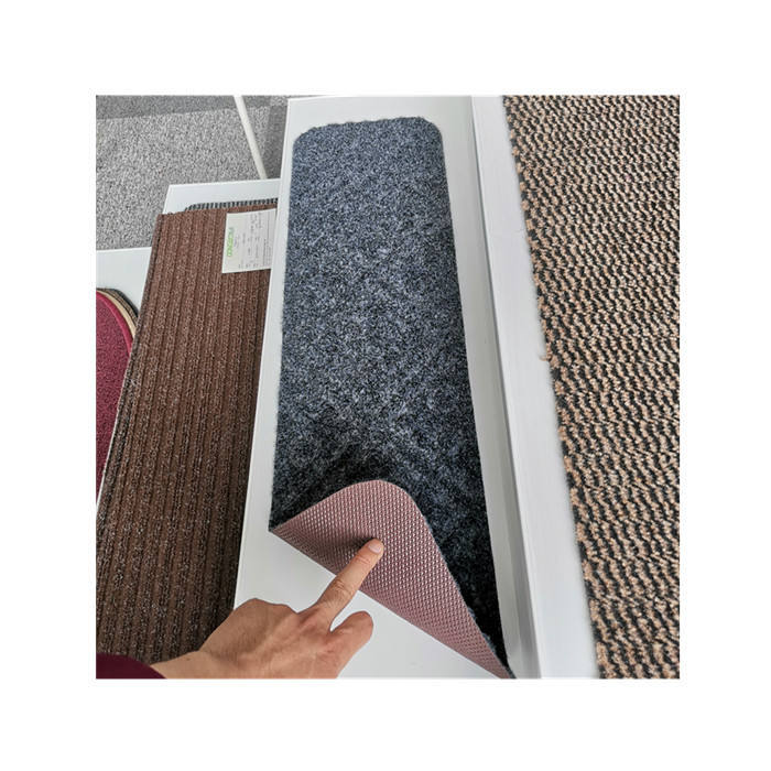 non slip rubber latex backing Stair treads mat stair carpet