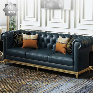 असली लेदर divani chesterfield loveseat सोफे अनुभागीय 5 सीटर नीले नॉर्डिक उच्च अंत चेस्टर बटन गुच्छेदार सोफे