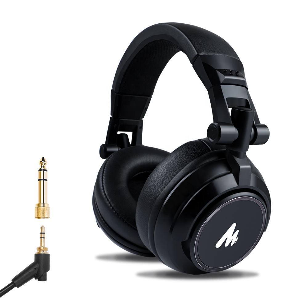 MAONO профессиональный студийный монитор наушники 50 мм динамический Тип объемного стерео проводной монитор DJ наушники