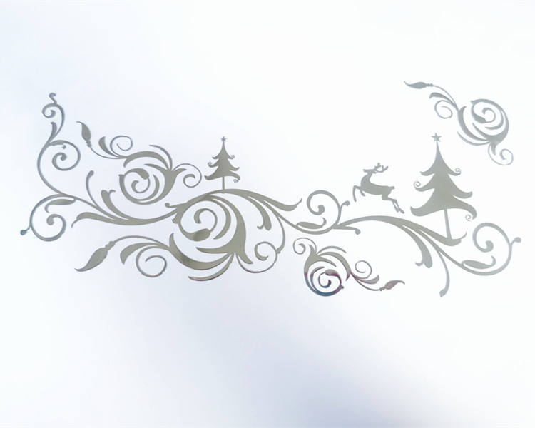 Christmas logo sticker Custom silver metal sticker for Christmas decoration