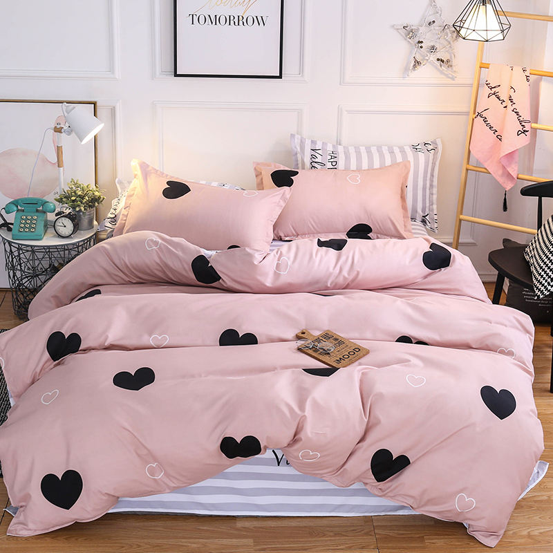 Good Quality Bedding Set New Design Heart Printing Duvet Cover Set Printed