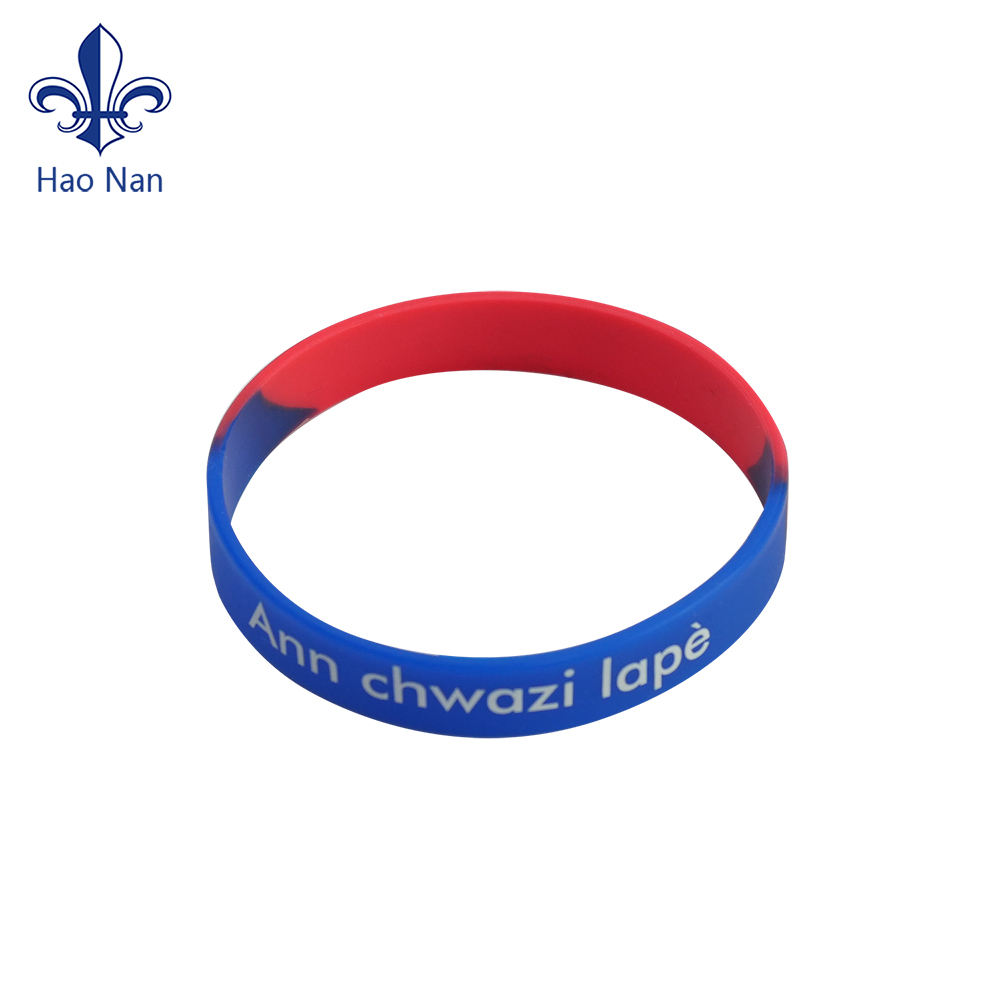 Personalized Debossed Print Silicone Bracelet with Custom Design