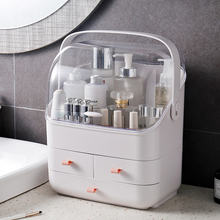 Portable Make Up Organizer 3 Layers Premium Dressing Case  Anti-dust Skin Care Cosmetics Storage Box makeup case  HZPH001