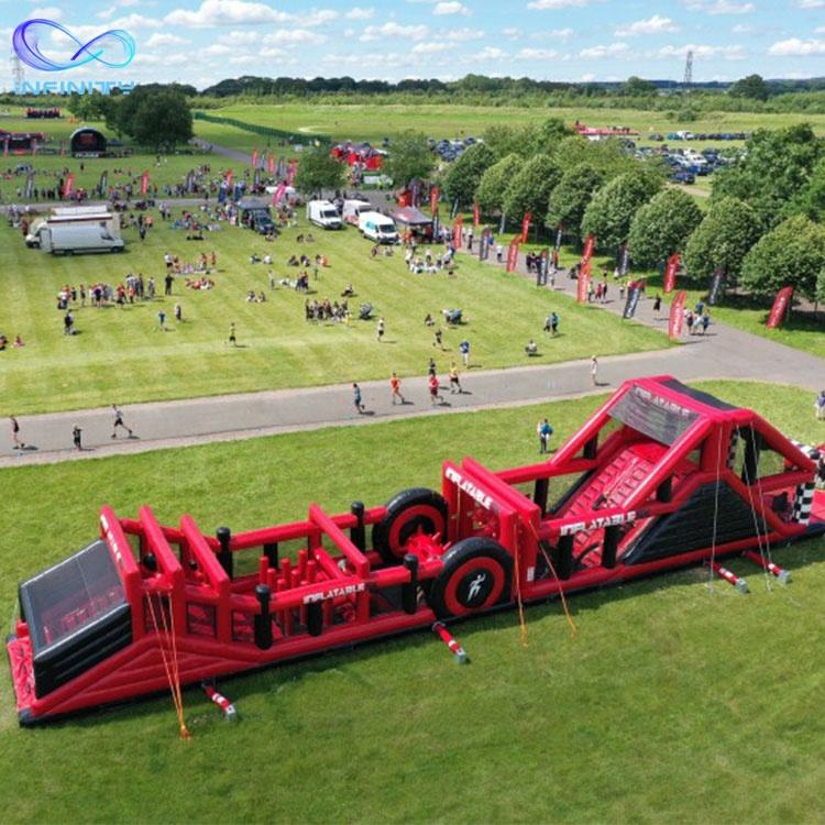 outdoor playground The world ' s largest giant inflatable challenge world inflatable Obstacle Course inflatable maze for adult