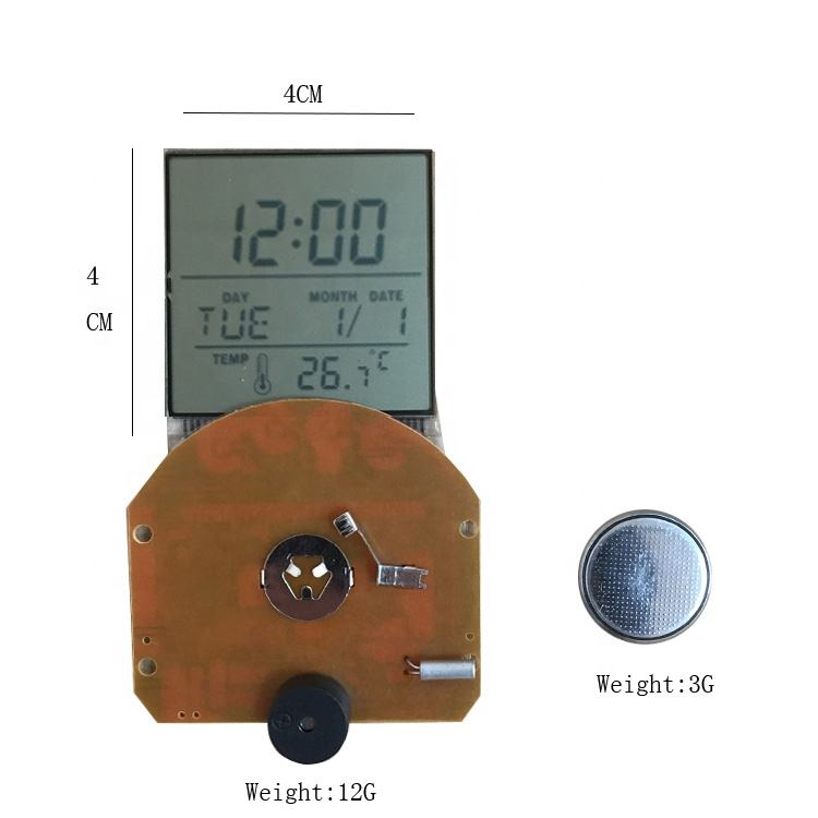 LCD Clock Parts Digital Alarm Clock Accessories Temperature Humidity Display Spare Parts Electronic Components