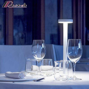 3.5W rechargeable led USB sans fil lampe usb rechargeable lampe de table pour restaurant