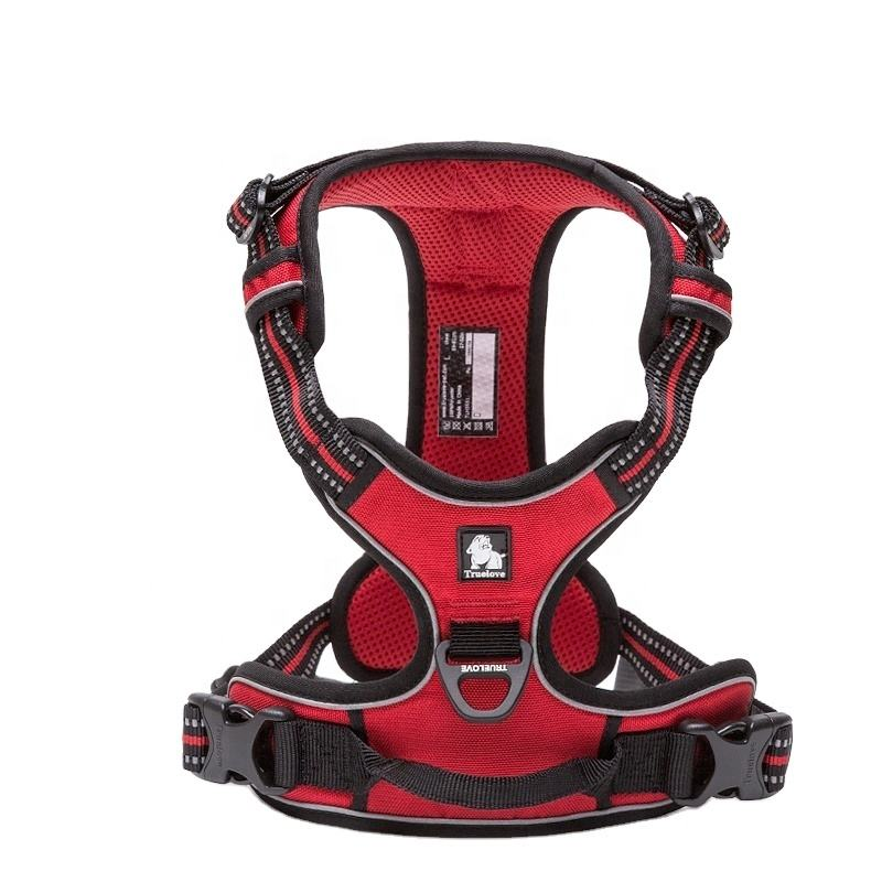 Truelove Tactical Service Breathable Mesh No Pull Metal Chain Adjustable Reflective Pet Dog Harness