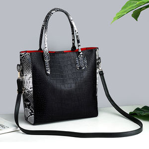 Fashion pu leather handbag sets 3 pieces lady tote bag for women