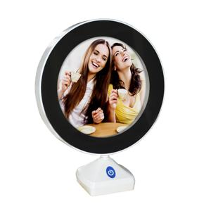 Double 100 Espelho New Digital Magical LED Leather Mirror Picture Photo Frame With Light Standing Desk