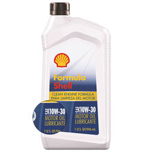 Custom Formula Shell 10W-30 Engine Oil - 1 Quart (Pack of 6)