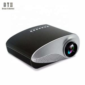 Hot Selling 1280*720 LED 3D Lamp Mini Data Show Tablet Digital Multimedia LCD Projector RD802 for Christmas
