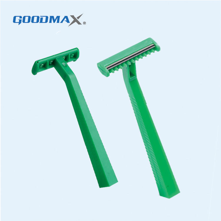 Promotional disposable plastic medical women body razor with comb
