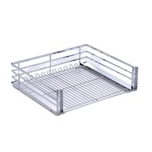 China Wholesale Kitchen Chroming Wire Pull Out Basket Drawers Large Mesh Sliding Basket organizer