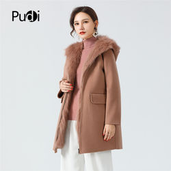 Pudi women winter real fox fur coat jacket 2020 Ins hot lady