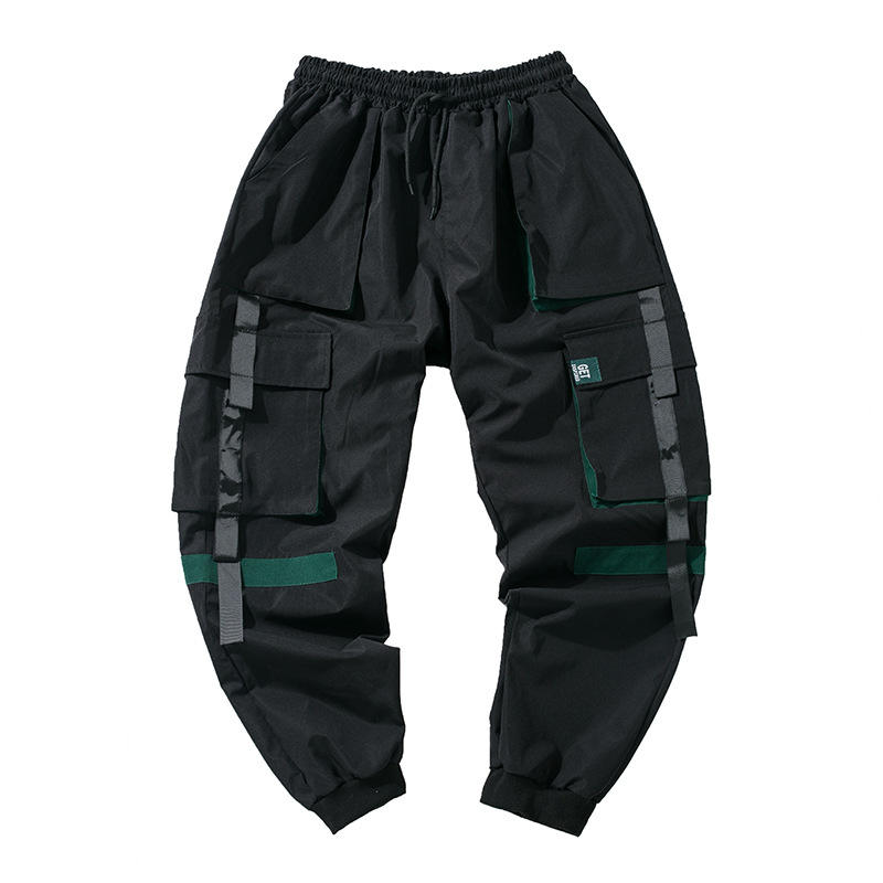 Wholesale Fashion Multi-pocket Harem Hip Hop Men Sweat Track Cargo Plus Size Trouser Pant